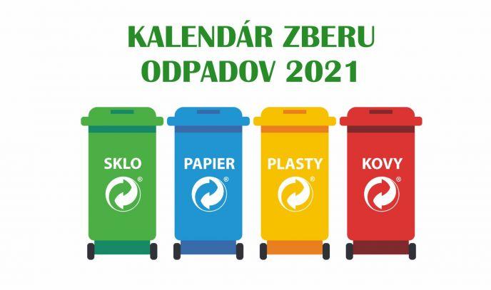 Kalendár zberu odpadov 2021