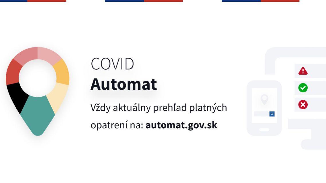 COVID automat - Infografiky a označenia prevádzok